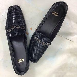 Stuart Weitzman Leather Square Toe Loafer